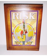Vintage Game Collection Risk Wooden Book Box Board Game - $26.00