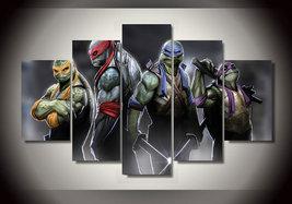 5 Pcs With Framed Printed cartoon Teenage Mutant Ninja Turtles Group Pai... - $99.99