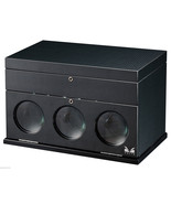 VOLTA CARBON FIBER 3 WATCH WINDER 31-560030 W/ STORAGE - $590.75