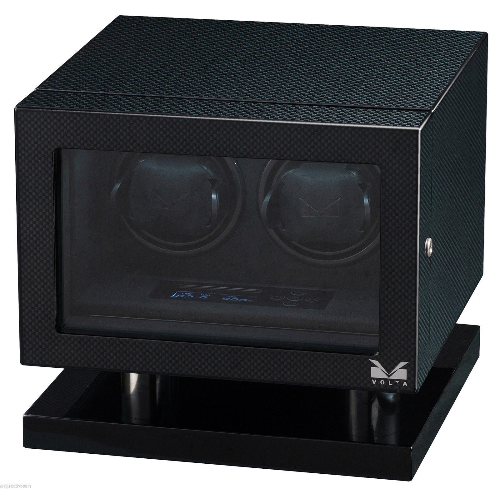 Volta Automatic Double Watch Winder Carbon Fiber Signature Series 31-560020