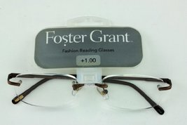 Foster Grant Dustin Rimless Lightweight Reading Glasses (Brown Metallic Arms)... - $19.99
