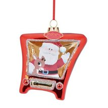 Department 56 Rudolph Santa and Rudy Tv Ornament, 4.5-Inch