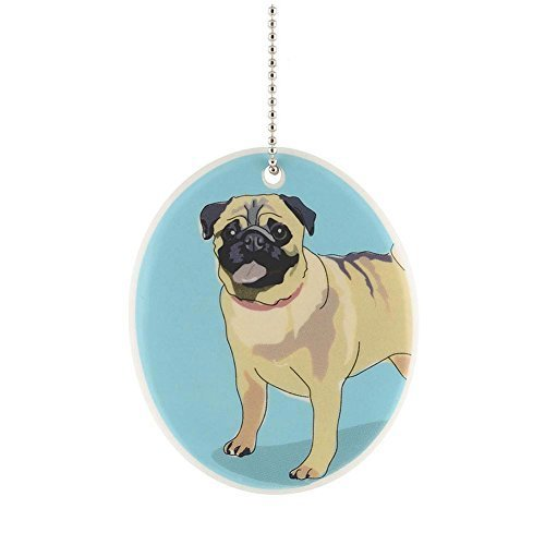 Department 56 Go Dog Pug Ornament, 3.25-Inch
