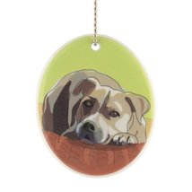 Department 56 Go Dog Pit Bull Ornament, 3.5-Inch