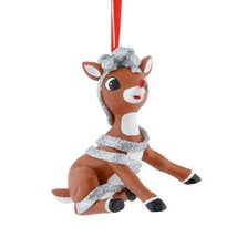 Department 56 Rudolph Rudolph Wrapped Up Ornament, 2.5-Inch