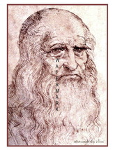 "Leonardo da Vinci ""Self Portrait"" Vintage 13 x 10 in Giclee CANVAS Print - $19.95"