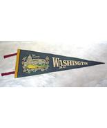 1950-60s Vintage Washington DC Dark Green Felt Cloth Pennant The Capitol... - $8.90