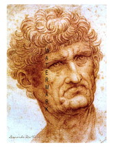 "Leonardo da Vinci Vintage  ""Portrait of a Man"" 13 x 10 inch Giclee CANVA... - $19.95"