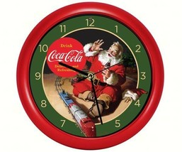 Coca-Cola Santa with Train Clock - £11.47 GBP