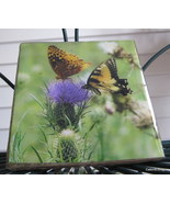 Butterfly & Thistle Photo Coasters Set of Four - $15.99