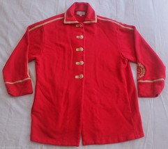 Vintage ST. JOHN SPORT by Marie Gray Red & Gold Crest Cotton Jacket Size P - $74.95