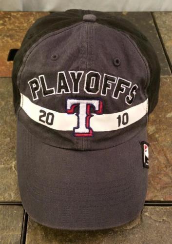 Texas Rangers MLB 2010 Playoffs Postseason Gray Adjustable Baseball Hat / Cap