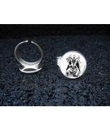 Silver Plated Adjustable Ring Baphomet Devil Knights Templar Sabbatic Goat - $11.39