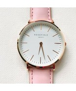 Rosefield AMS NYC Rose Gold Pink Strap Watch Fresh Battery EXCELLENT!! - $39.60