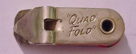 Vaughan Quad-Fold Bottle Can Opener Vintage Keychain FOB - $12.95