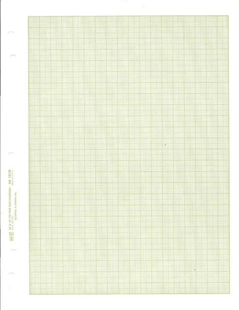 new 13 sheets k u0026e 461510 green graph drawing paper 10x10 to th centimeter 8 5x11