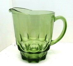 Hazel Atlas Avocado Green 48 oz Pitcher THUMBPRINT Kitchenware - $26.68