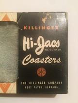 Vintage 50s Hi-Jacs Sock Coasters Cloth Slip-on Coasters - set of 15 image 2
