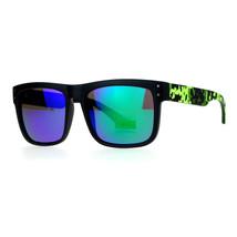 Square Rectangular Sunglasses Unisex Matted Frame Digital Pixel Print - $9.95