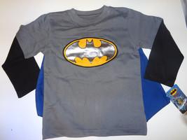 DC COMICS BATMAN boys clothes LONGSLEEVE TOP NWT W/CAPE Sizes 18M, 24M, ... - $10.49