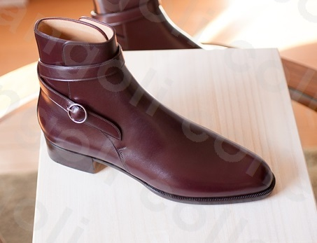 Handmade men fashion maroon jodhpur boot Men ankle high genuine leather boots