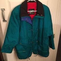 LONDON FOG THINSULATE THERMAL INSULATION JACKET 3M SZ M WOMEN'S TEAL VTG... - $42.75