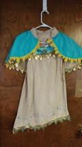 Disney Store  Pocahontas costume / dress up. Dress, Shaw, Boots,Metal Ti... - $531,81 MXN