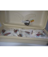 """Baby Dream"" almond colored exterior infant casket combo  30"" baby boy o... - $195.00"