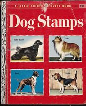 Dog Stamps a Little Golden Activity Book Collie Beagle Boxer Cocker Spaniel - $6.74
