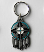 DREAM CATCHER PEWTER / ENAMEL ARROW KEY RING KE... - $7.67