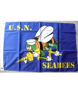 USN US NAVY SEABEES SEABEE UNITED STATES POLYES... - $9.17