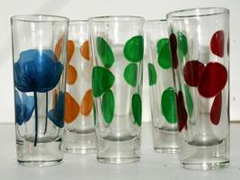 Cerve Vintage Retro Circleware Italy Aperitif Glasses // Tall Shot Glasses - $15.00