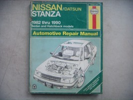 Nissan Stanza,  Haynes Repair Manual, Service Guide 1982-1990. Book - $10.40