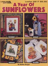 A Year of Sunflowers, Leisure Arts Home Decor Cross Stitch Pattern Bookl... - $3.95