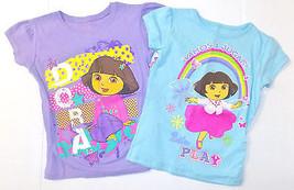 Nickelodeon Dora The Explorer Girls T-Shirts Purple or Blue Sizes 4  5-6... - $13.99