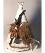 Native People Natural Wonders Hand Made Teepee Wigwam - $18.00