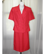 Dressbarn Polyester Blend Lined Solid Red Short... - $19.99