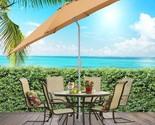 Best Choice Patio Tilt Umbrella 9' Aluminum Tan Outdoor Market Umbrella W/Crank