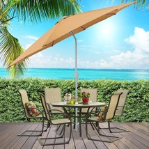 Best Choice Patio Tilt Umbrella 9' Aluminum Tan Outdoor Market Umbrella ... - $78.70