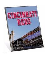 "MLB Cincinnati Reds Stadium Premium 8"" x 10"" Solid Wood Easel Sign - $9.95"