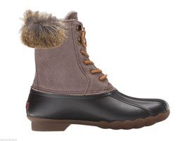 NEW Sperry Top Sider White Water Duck Boots in Black / Graphite w/ Faux ... - $98.01