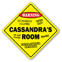 CASSANDRA'S ROOM SIGN kids bedroom decor door c... - $8.89