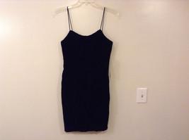 JCPenney Juniors' Women's Size 11 Velvet Little Black Dress LBD Spaghetti Straps