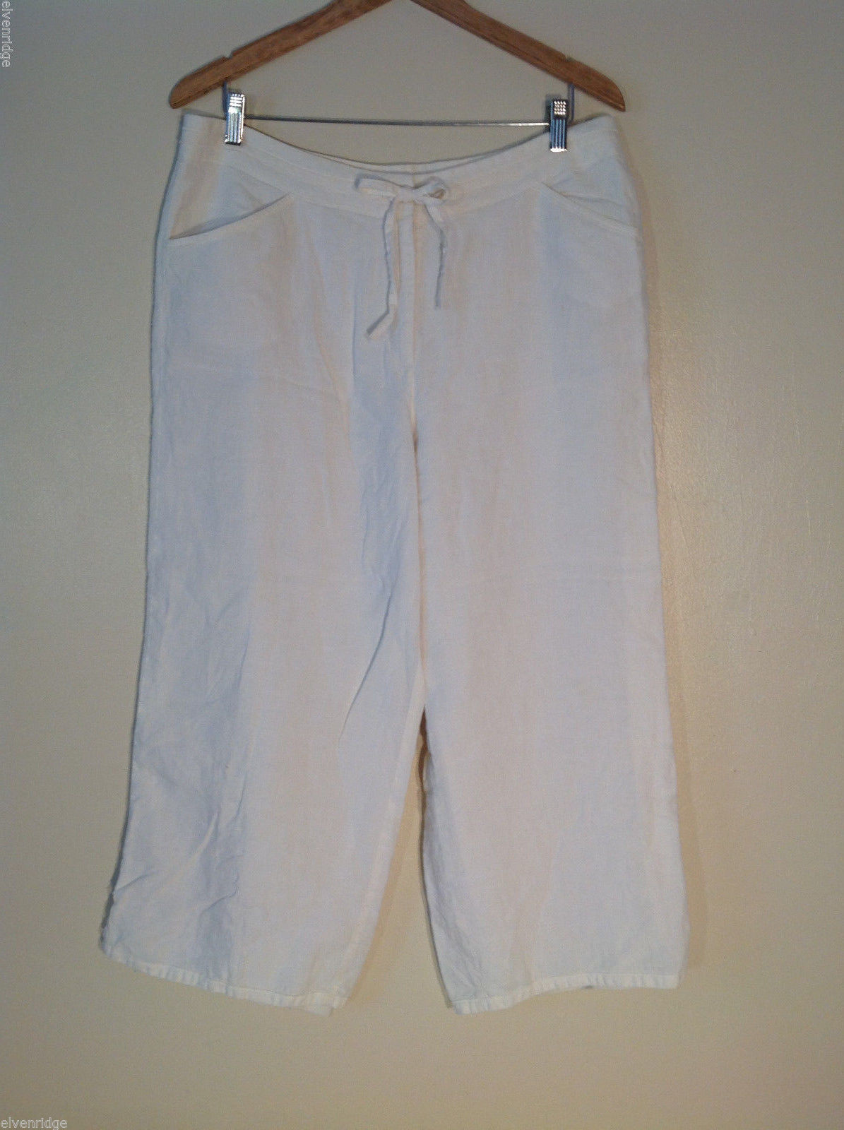 Womens J.Jill off-white linen fully lined pants Size 16
