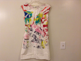 mint3 Jodi Arnold Women's Size 4 White Sun Dress A-Line Abstract Geometric Print
