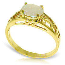 Brand New 0.45 Carat 14K Solid Gold Filigree Ring Natural Opal - £148.45 GBP