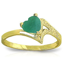 Brand New 1 Carat 14K Solid Gold Recognize The Love Emerald Ring - £227.33 GBP