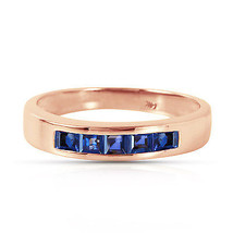Brand New 14K Solid Rose Gold Rings with Natural Sapphires - $336.64