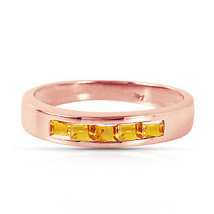 Brand New 14K Solid Rose Gold Rings with Natural Citrines - $329.07