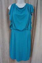 Jessica Simpson Dress Sz 10 Peacock Blue Open Back Evening Cocktail Blou... - £42.28 GBP